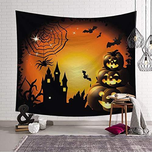 Yingbaobao arazzo lanterne di zucca sul lato della ragnatela stile halloween materiale in poliestere copriletti e tende arredamento della casa del soggiorno 100×150cm