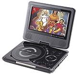 """Takara DIV 107 R Lettore DVD portatile 7"""", porta USB, colore: Nero"""