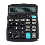 ASHATA Calcolatrice, 12 Cifre Funzione Standard Calcolatrice Tavolo Ufficio per Display LCD, Calcolatrice a Doppia Alimentazione Calcolatrice Batteria a Energia Solare per Ufficio/Finanza