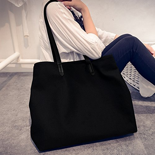 ashdown, Borsa tote donna nero Black large Black