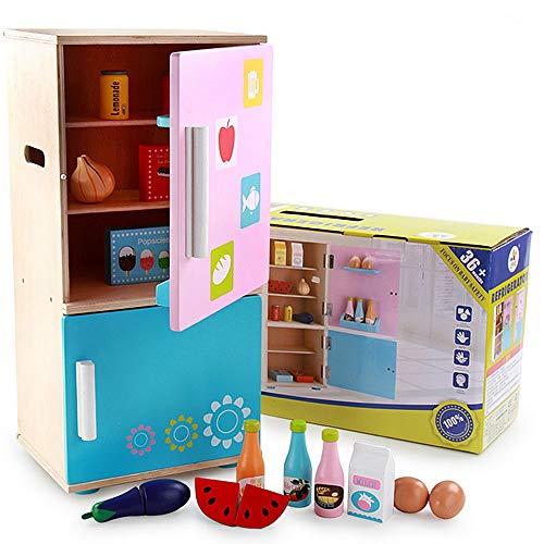 Zhongsufei Kid Workbench DIY Set Spielzeug Spielzeug Kühlschrank Cosplay Jungen und Mädchen Spielen Set mit Gemüse Obst Eier Pädagogisches Spielzeug Rollen Rollenwerk vorgeben (Kid Kühlschrank Spielzeug)