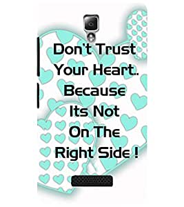LENOVO A2010 TEXT Back Cover by PRINTSWAG