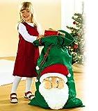 XXL 100cm Geschenkesack Weihnachtsmann Nikolausstiefel Geschenksack Gabensack Weihnachten Nikolaussack Nikolaus Deko Sack