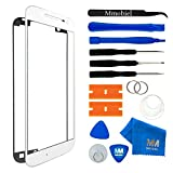 MMOBIEL Front Glas Reparatur Set für Samsung Galaxy Note 4 N910 Series (Weiß) Display Touchscreen mit 11 TLG. Werkzeug-Set inkl passgenauem Klebe-Sticker/Pinzette / Saugnapf/Metall Draht/Tuch