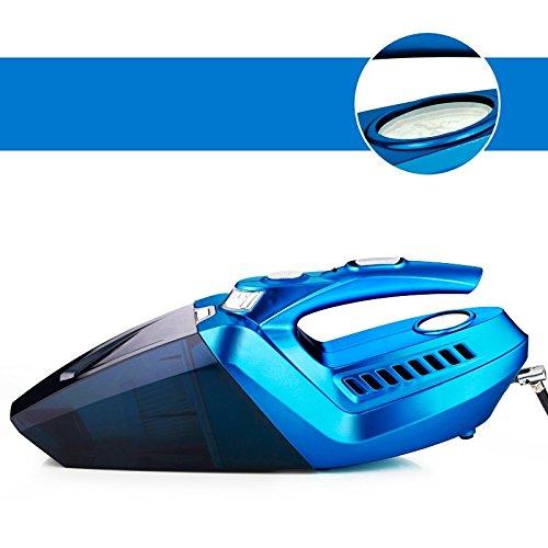 LLZXCQ Auto Staubsauger/Auto Staubsauger/High Power/Automotive/Aufblasbare/Aufblasbare Pumpe/Wet/Dry/Home/Auto/Dual Zweck/Leistungsstarke/Handheld/Portable, 4-In-1 Pfau Blau (Auto Version) Hand Tabelle 1