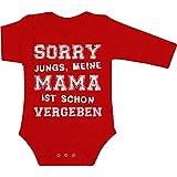 Sorry Jungs Meine Mama Ist Schon Vergeben Witziger Spruch Baby Langarm Body 74/80 (6-12M) Rot