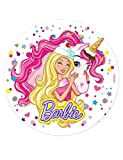 Generique - Barbie Zuckerscheibe mit Schmetterlingen 20 cm