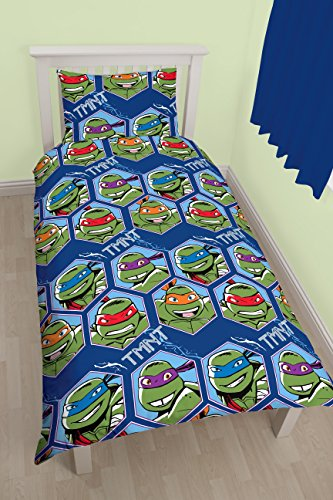 Image of Teenage Mutant Ninja Turtles 'Dimension' Single Duvet Set - Repeat Print Design