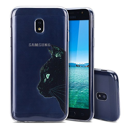 MoEvn Galaxy J3 2017 Hülle, [Liquid Crystal] Weiche Flex TPU Silikon [Crystal Clear] Ultra Dünn Backcover Handyhülle Anti-Kratzer Schutzhülle für Samsung Galaxy J3 2017 5,0