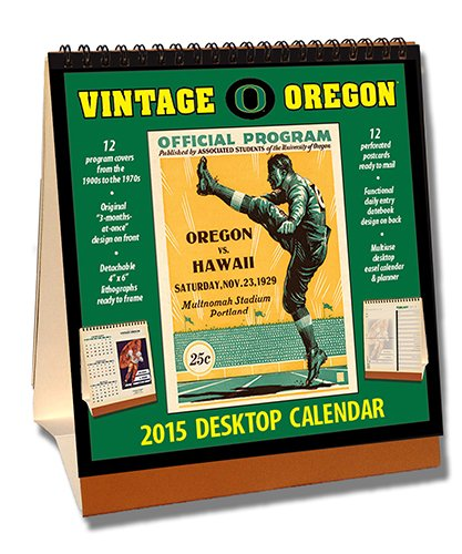 Oregon Ducks 2015 Easel Desktop Vintage Football Calendar - Desktop-kalender-easel
