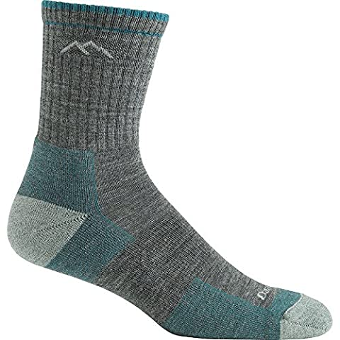 Darn Tough Vermont Women's Merino Wool Micro Crew Cushion Socks, Slate, Small (2.5–5 UK)
