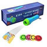 Proyector para niños, Gfordt Story Proyector para linterna Baby Flashlight Toys, 4 temas para 32 imágenes, Baby Bedtime Story Toys