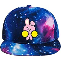 Yovvin BTS Basecap, Unisex Kpop BTS GOT7 Seventeen Blackpink Monsta X Hip-Hop Style Einstellbar Baseball Cap Snapback Hut Baseballkappen für Sport & Outdoor