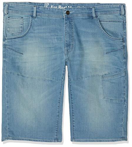 JP 1880 Große Größen Herren Shorts Jeansbermuda turn-up Blau (Hellblau 99) W(Herstellergröße: 58)