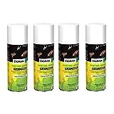 DIGRAIN Aérosol insecticide digrain pyrèthre LOT DE 4 aérosol 200ml produit naturel-anti blattes ou cafards-punaises-puces-acariens-mites-teignes-poissons d'argent-mouches-moustiques en lot de 4