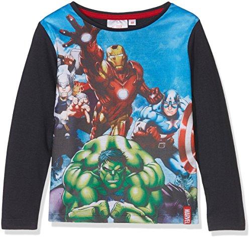 51k0KgKchpL - Marvel Avengers Thor Lightning Camiseta, Azul (Navy 19-0410TC), 9-10 Años para Niños