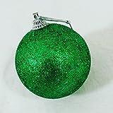 palle di natale SFERA verde glitter CONFEZIONE 48 PZ, IDEA REGALO