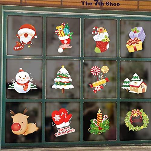 XINAINI Weihnachten 3D Wandaufkleber, Wandaufkleber Weihnachtsmann DIY Aufkleber Wandtattoos FüR Fernseher Sofa Hintergrund Wandsticker Abnehmbare Wandbilder Wanddeko Hauptdekoration