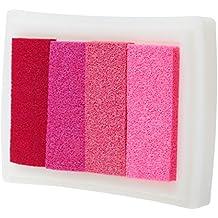 4 Sombra Almohadilla De Colores De Tinta De Huellas Digitales De Corea DIY De Estampación Artesanal Rosa