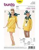 Burda Damen Schnittmuster 2365-Kostüm Ananas weiß