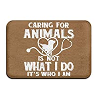 ZKHTO Inside & Outside Area Rug Floor Mat Caring For Animals Veterinary Design Pattern For Pet Cat Dog Feeding Mat,mat size:23.6(L) X15.7(W) Inch/60(L) X 40(W) cm