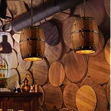 In ottone antico lampadario,luci a soffitto per soggiorno lampadario,Vintage botti di legno lampadario pastorale di illuminazione paese