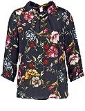 TAIFUN Bluse 3/4 Arm Blusenshirt mit Floralem Print Tinte 38