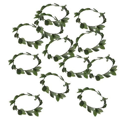 � Griechisch Römische Göttin Kunststoff Blätter Lorbeerkranz Stirnband Kostüm ()