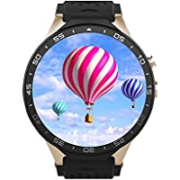 kw88 Smartwatch Cellulare All-in-One 3 G WIFI Bluetooth Smart Watch scheda SIM Android 5.1 con GPS, fotocamera, Cardiofrequenzimetro, Google Map, Google Play