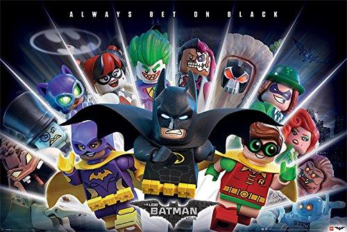 DC Universe Poster Lego Batman - Always Bet on Black - 91.5 x 61 cm | PostersDE