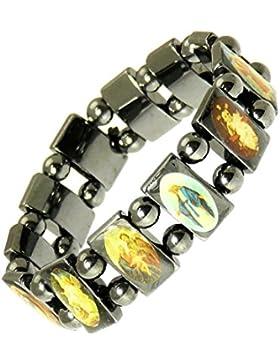 Magnetische Hämatit elastische Heiligen Armband / Bracelet Jesus / alle Heiligen Armband - 113