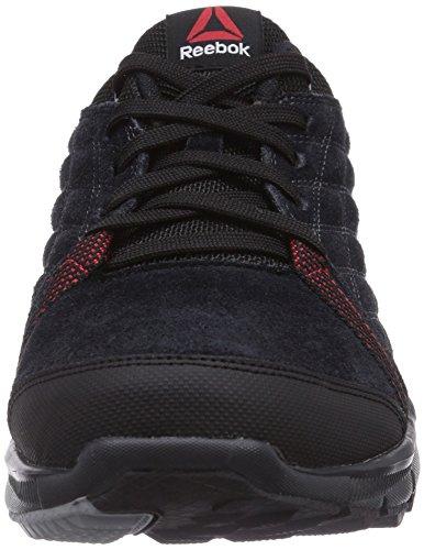 Reebok Dmx All Road, Chaussures de marche homme Noir - Schwarz (Black/Gravel/Flat Grey/Red Rush)