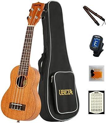 ubeta us-031–Ukelele soprano (caoba (5en 1) Kit: funda, Samsung Galaxy S3MINI i8190sintonizador, púas y correas...