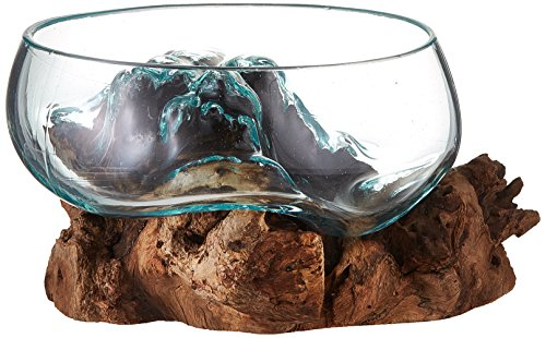 Cohasset Shmini Schmelzglas mit großer Öffnung Approximately 8' Wide Natural Wood and Recycled...