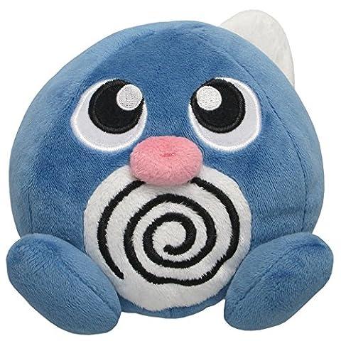 Sanei Pokemon All Star Series Poliwag Stuffed Plush, 4.5