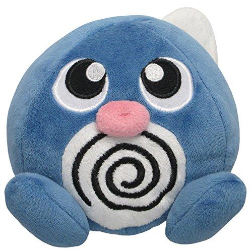 "Sanei Pokemon All Star Series Poliwag Stuffed Plush, 4.5"""