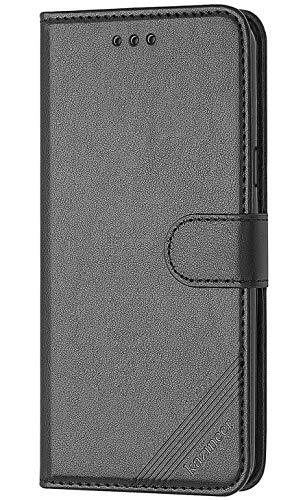 Kazineer cover samsung galaxy s7 edge, cover samsung s7 edge flip caso in pelle premium portafoglio custodia per samsung galaxy s7 edge (nero)