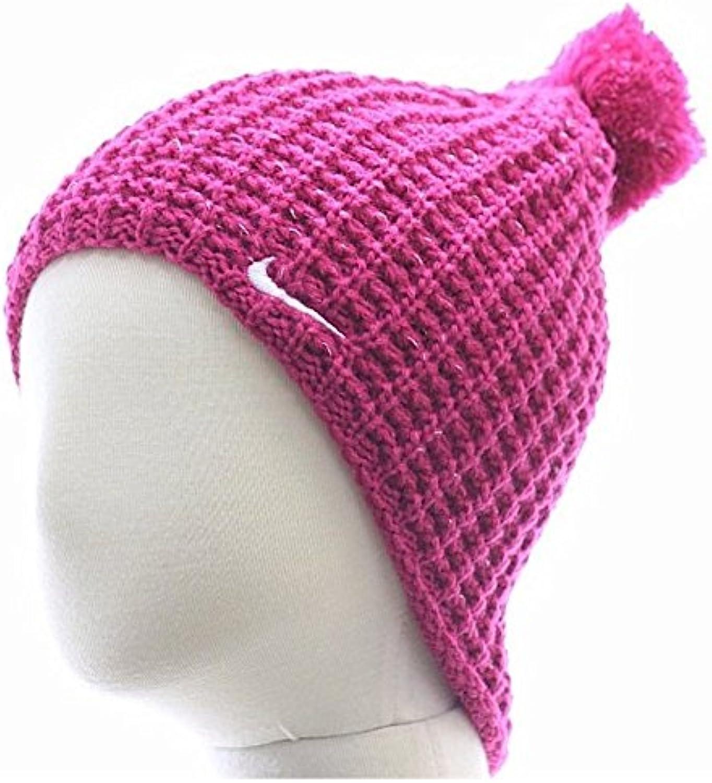 Sombrero de gorrita tejida de punto de invierno Pom Pom Fireberry de la muchacha de Nike Sz: 4 / 6X