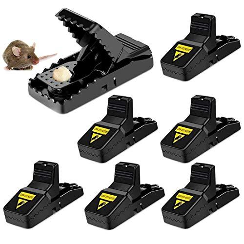 Felly Trampa para Ratas, 6X Ratoneras Trampas Reutilizables Trampa de Ratón Trampa Profesional para Ratas - Potente y Reutilizable