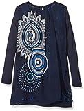Desigual Mädchen Kleid Vest_Boston, Blau (Midnight 5040), 128 (Herstellergröße: 7/8)