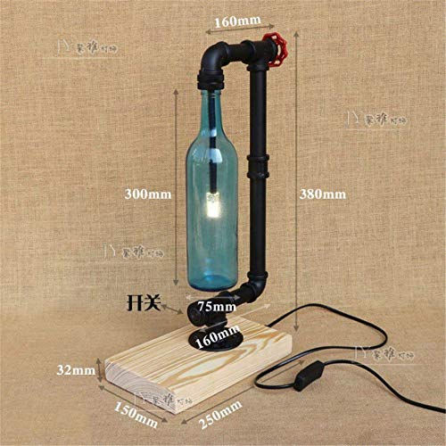 DEED Tischlampe-Minimalistisch Stilvolle Schreibtisch Lampsretro Lampen Bar Cafe Industrial Wind Studie Sanitär Holz Base Table Lamplue Arbeiten Kinder Lesen Dekorative Lichter