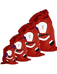 Gabkey saco de rojo bolsas de regalo con la cara linda de Santa Claus para envolver