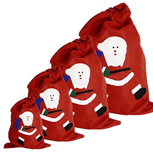 Gabkey saco rojo bolsas regalo cara linda Santa Claus
