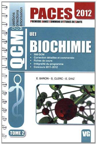 Biochimie UE1 : Tome 2 par Elodie Baron