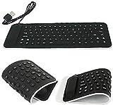 #5: TetraByte Portable Flexible Silicone Foldable Waterproof Wired USB Laptop & Tablet Keyboard(Black, Blue, Pink, Purple)