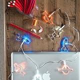 12er LED Acryl Weltall Lichterkette batteriebetrieben