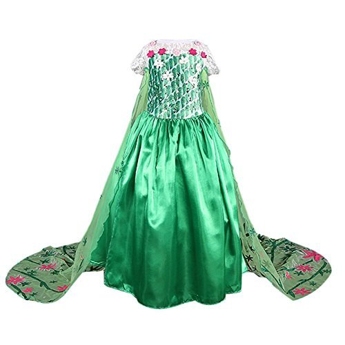 Frbelle® Girl's Cosplay Princess Short-Sleeved Dress Costume, For Age 2, 3, 4, 5, 6, 7, 8