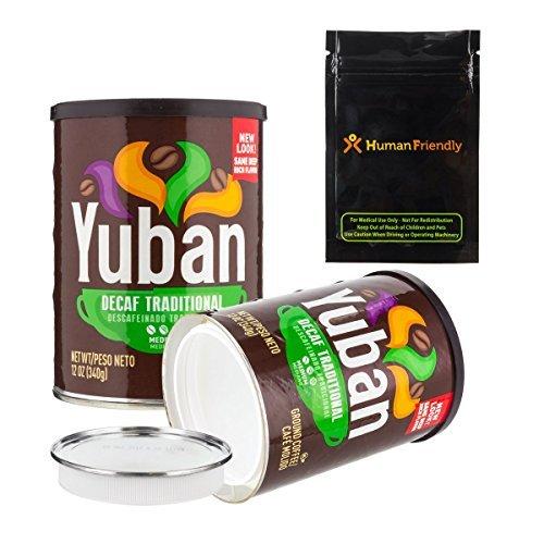 Große Kaffee Stash kann Zeitvertreib Safe W humanfriendly Geruch Proof Tasche Yuban 44 oz - Speisekammer Amazon Was Ist