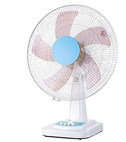 DZW Ventilateur de distribution du ventilateur de bureau 3 vitesses 16 pouces mécanique silencieuse secouant la tête pour la maisonUltra-silencieux sans ventilateur