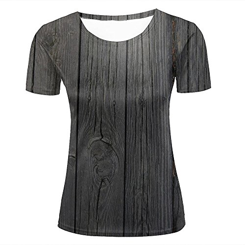 qianyishop 3d Print T Shirts Wood Boards Graphics Men Women Couple Fashion Tees D